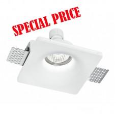 Faretto incasso gesso a LED quadrato